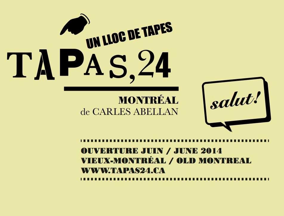 Tapas 24: Nouveau restaurant dans le Vieux-Montréal