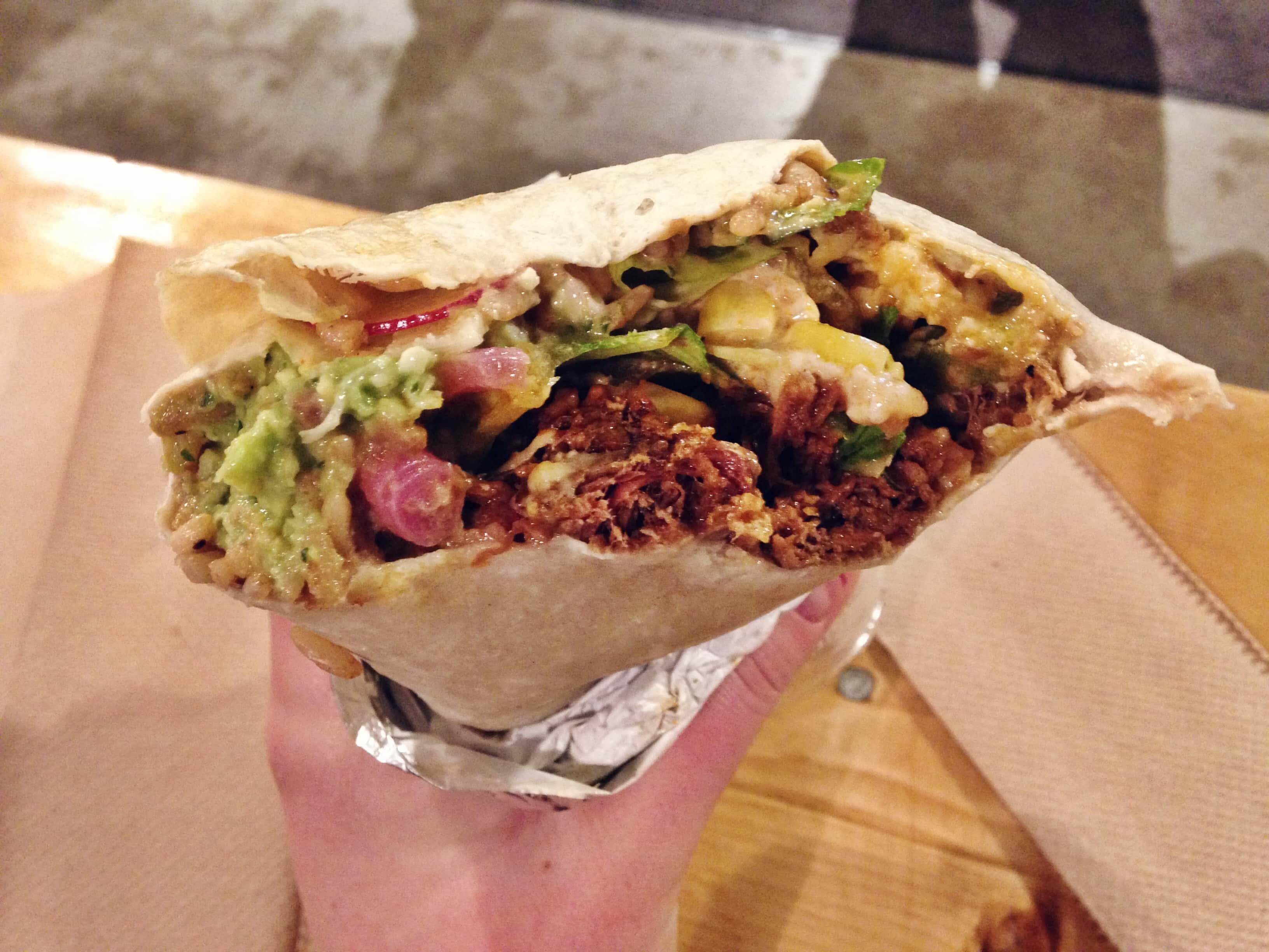 Tejano BBQ Burrito Vieux Montréal restaurant