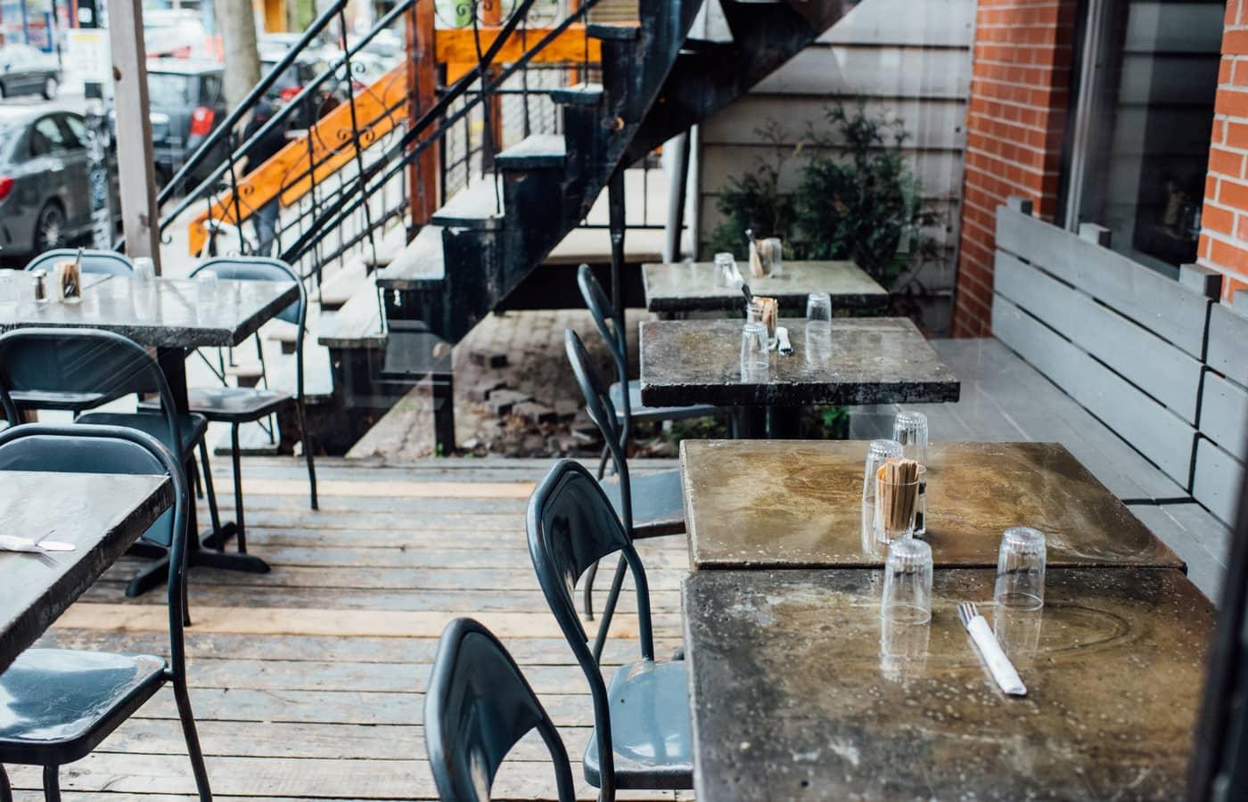 Brunch terrasse de l'Entre-pots Masson