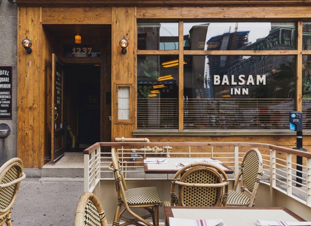Balsam Inn Centre-ville Montréal brasserie