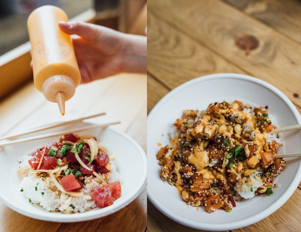 Koa Lua : parfait bon petit lunch santé et abordable au centre-ville poke hawaïen