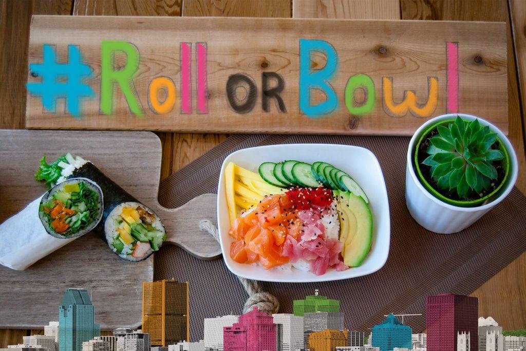 "Restaurant Moushi : nouveau resto de sushi burrito"" poke"