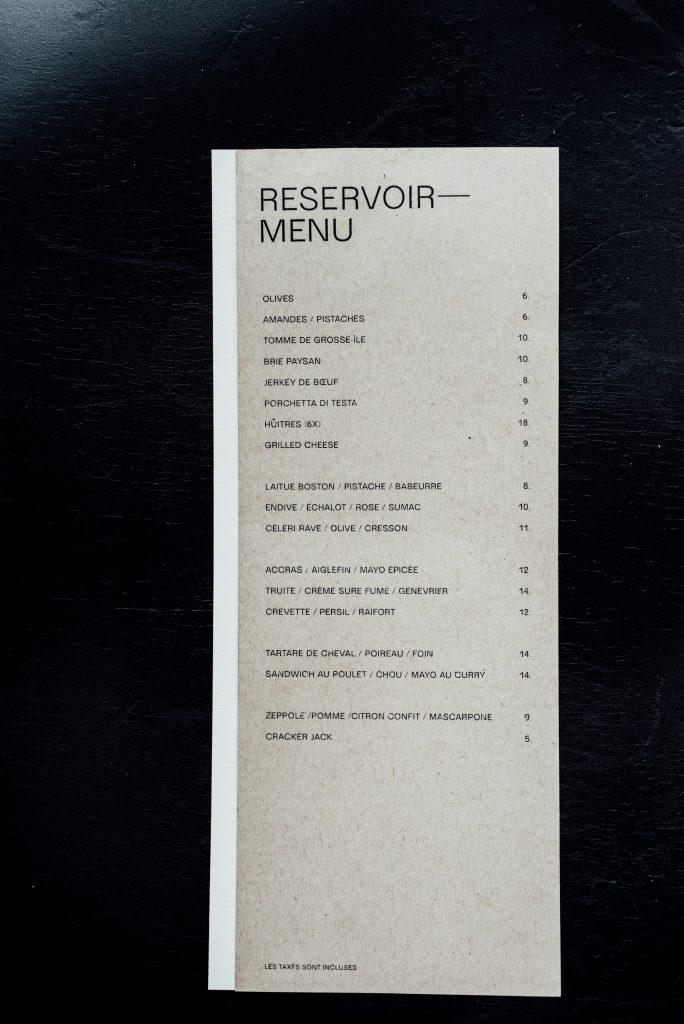 Brasserie Le Réservoir rue duluth