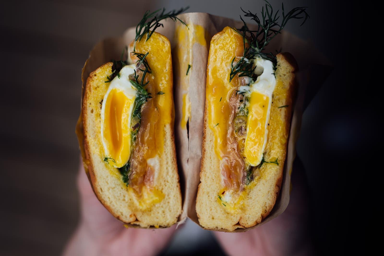 Un sandwich déjeuner du Pontiac
