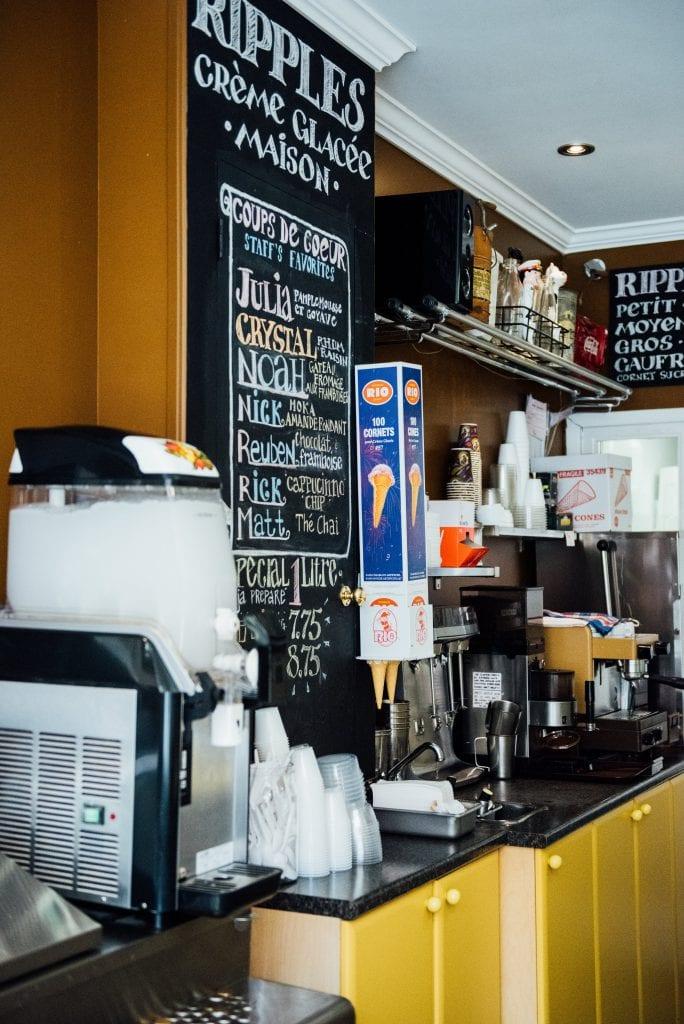 Ripples : institution de la délicieuse crème glacée maison montreal