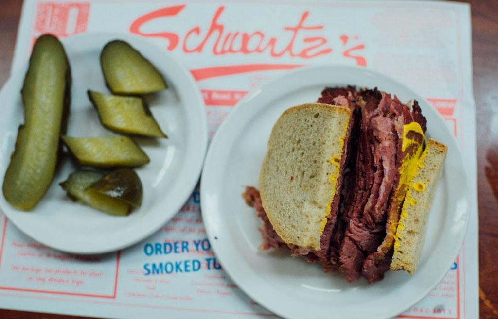 Food at Schwartz's