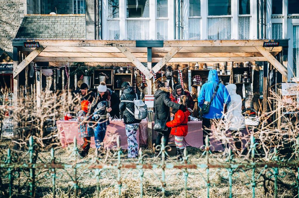 Cabane Panache et bois rond: événement original et gourmand sur la rue Wellington
