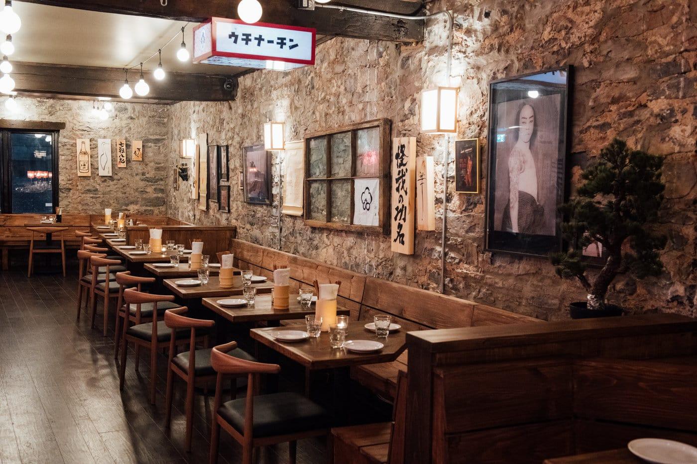 Dining room at Hanzō