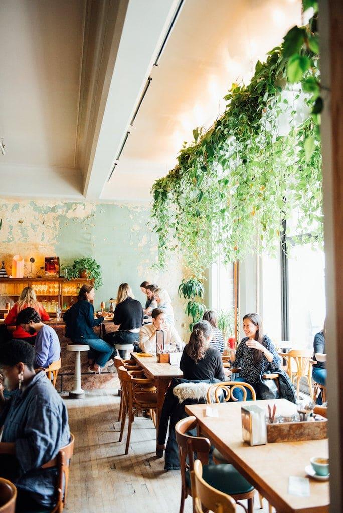 Café Parvis downtown montreal