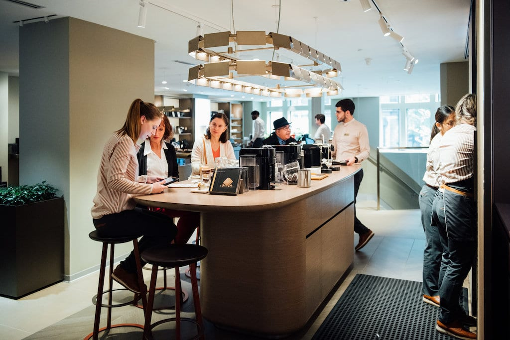 Nespresso crescent downtown montreal