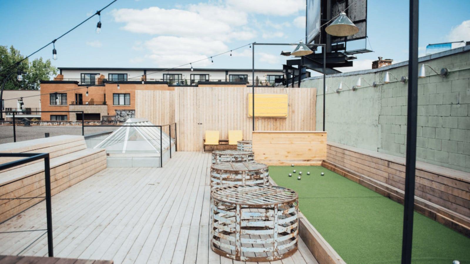 terrasse sur le toit ou aller