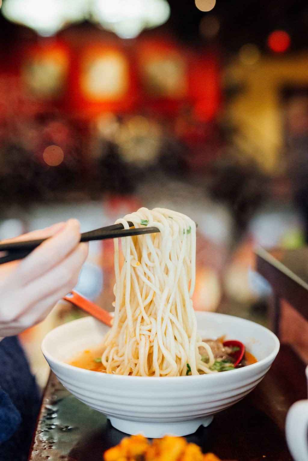 Nouilles de Lan Zhou Noodles Quartier Chinois Chinatown