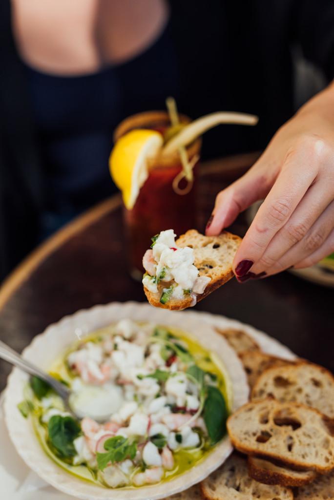 bar à flot food halibut cocktails