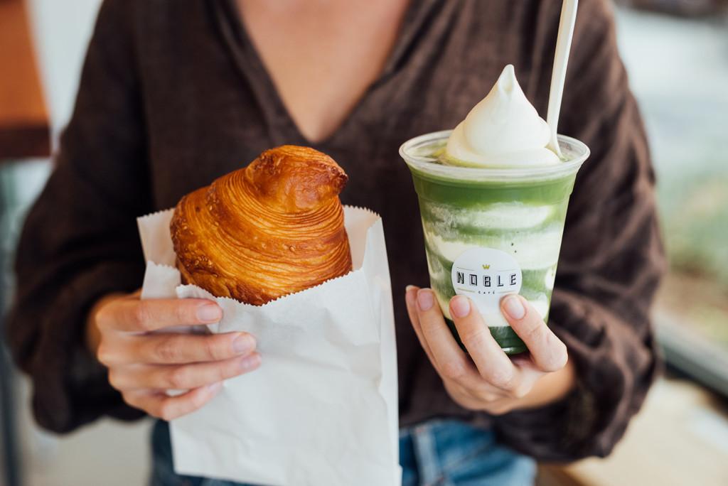 matcha affogato matcha noble cafe mile-ex croissant